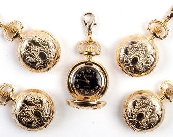 Gold locket watch pendant - set of 5 - NW02/G