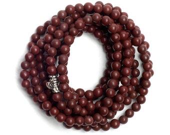 4mm Plum Jasper Stone Beads - 2 Strands
