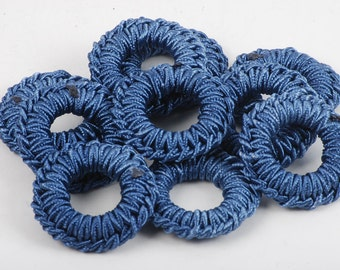 38mm Navy Blue Beads - 36 Count