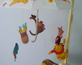 Musical Crib Mobile- Vintage Pooh Bear and Friends, 1973