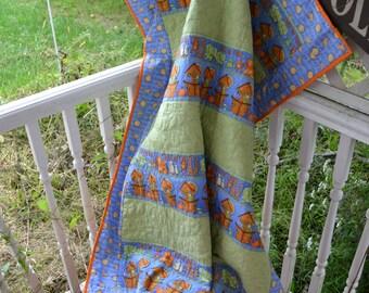 ON SALE NOW!!!  Handmade Quilt Noahs' Ark Childs Baby Modern Quilt