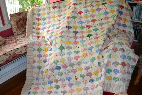 SALE SALE SALE Vintage Look Traditional Heirloom Quality Quilt Thirties fabric Shabby Chic Quilt was 650.00 now 480.00