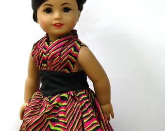 american girl doll dress: neon jungle