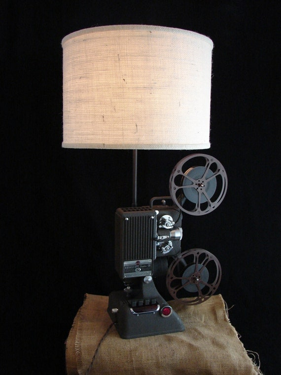 Upcycled Kodak 16mm Projector Lamp
