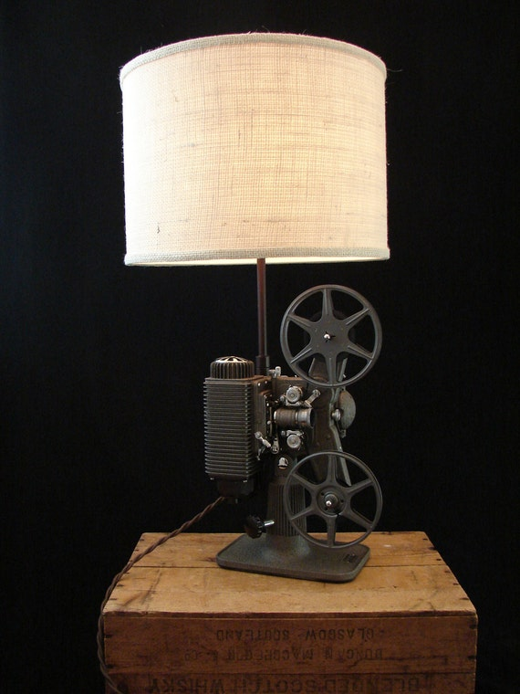 Upcycled Vintage Revere 8mm Projector Lamp