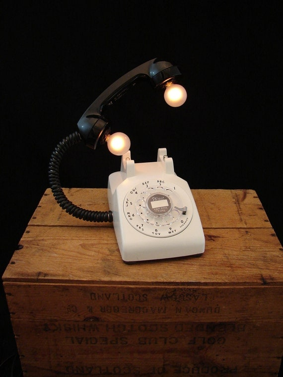 Upcycled Vintage Rotary Telephone Lamp