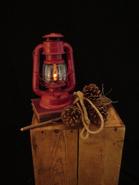 RESERVED for Steve /  Red SUN Kersosene Lantern