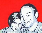 LOVE: Layered Paper Cut Custom Portrait Based on Photograph