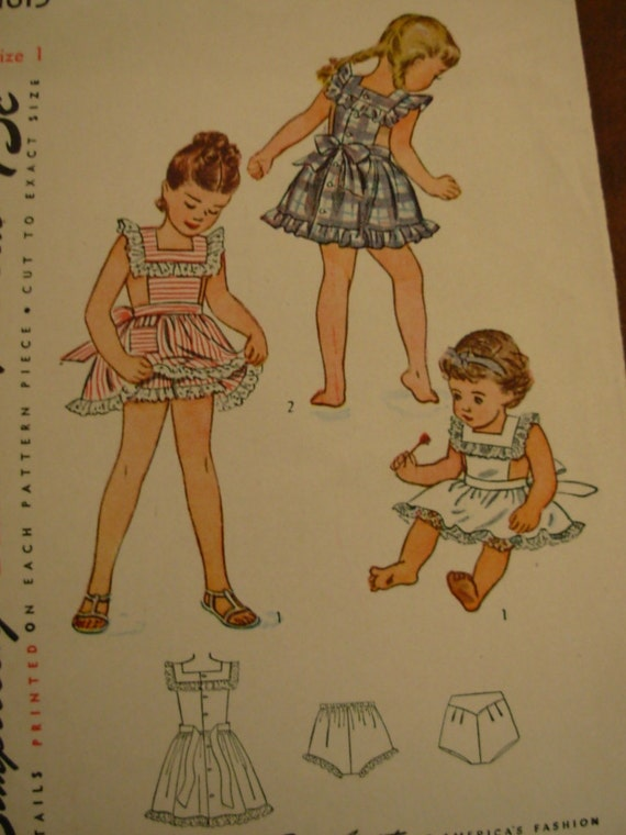 1940s girls' pinafore pattern