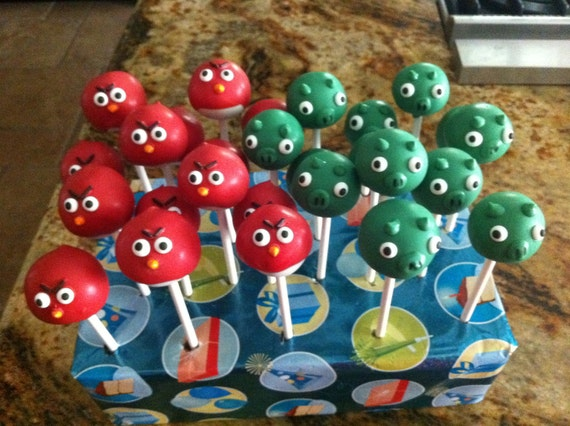 Bomb Bird Cake Angry Birds Cake Pops