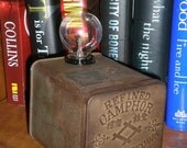 Vintage Tin Box Lamp / Nightlight