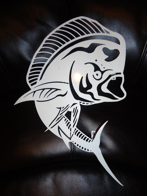 Bull Dolphin Mahi Mahi F Ish Laser Cut Metal Marine Fish Wall
