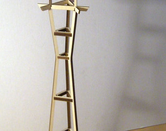 Sutro Tower Model in Birch Plywood