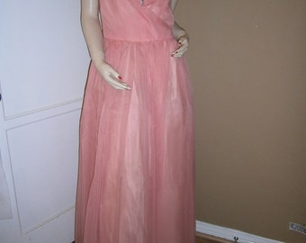 Sale/Vintage EMMA DOMB Pink 1950's Formal