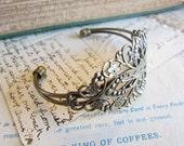 4 Filigree Antique Bronze Cuff Bracelets - Ships IMMEDIATELY  from California - A20a