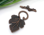 Grape Toggle Clasps - Copper - 5 sets- Ships IMMEDIATELY from California - FC13