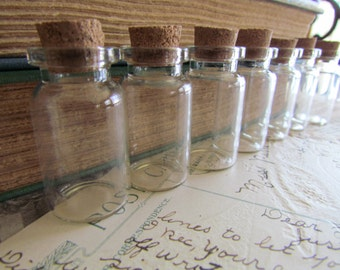 60 Glass Vials and Corks - WHOLESALE - 45x22mm - Ships IMMEDIATELY from California - BC70a