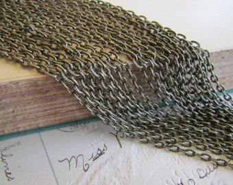 20M Bronze Chain WHOLESALE Textured Cable Link 5x3mm 64ft - Ships IMMEDIATELY  from California - CH03a