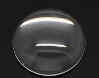 Glass Domes Seals  - Clear - Round - 18mm - 8pcs - Ships IMMEDIATELY from California - G03
