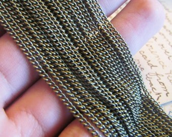 5M Curb Chain - Antique Bronze - 3x2mm - 16ft - Ships IMMEDIATELY from California - CH19