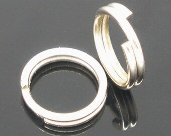 500 Silver Double Loops Open Jump Rings 8mm - Ships Immediately from California - F34