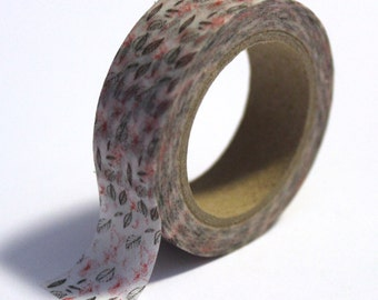 SALE Shabby Floral  Washi Tape - 15mmx10m - 1 Roll - Ships IMMEDIATELY from California  - TP86