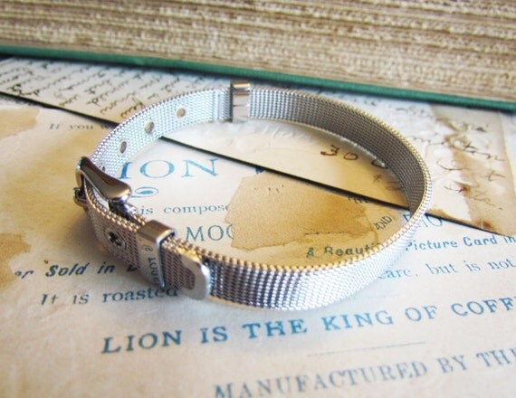 "Stainless Steel Watch Band Bracelet 8 1/4""  - Ships IMMEDIATELY  from California - A17"