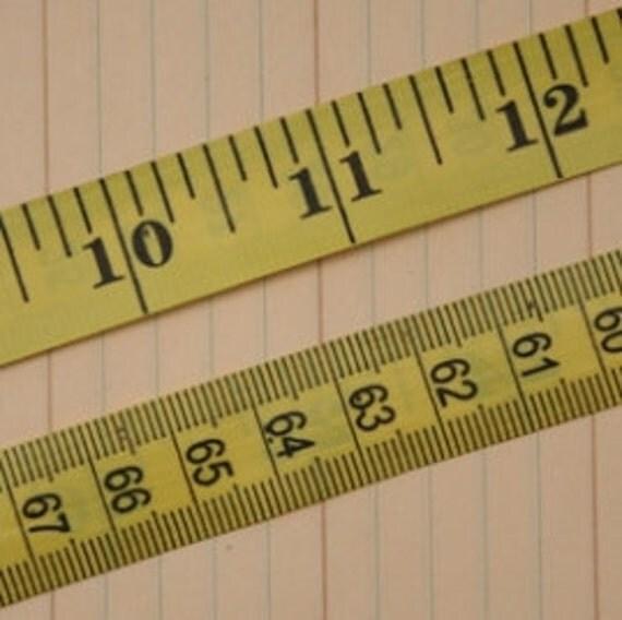 NEW Vintage Yellow Measure Tape Trim - 2 yards - Maya Road - TP2081