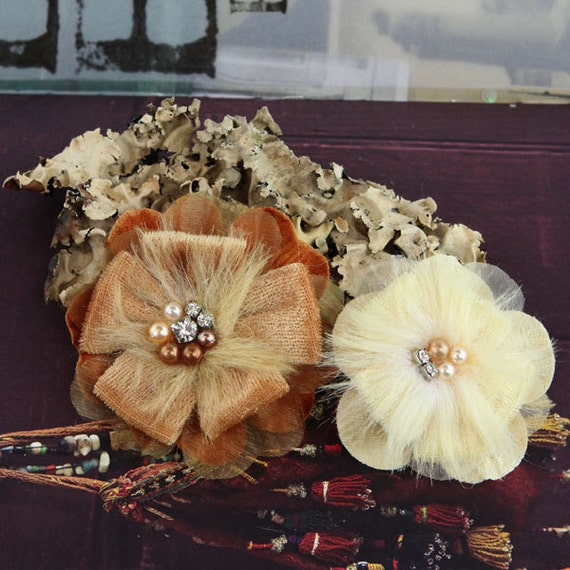 NEW 2012  Cherise Flowers in Sultan - Elegant Velvet Large Fabric Flowers - Prima - 558130