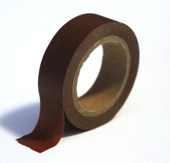 Brown Washi Tape (solid) - 15mm x 10m - TP61