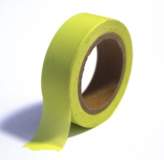 Japanese Washi Tape - Neon Green (solid) - 15mm x 10m - TP70