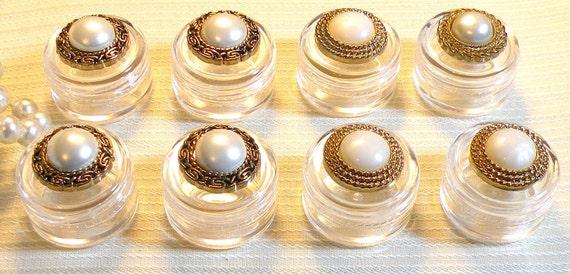 8 Hostess Gifts Decorative Jars Plastic Jars Decorative Screw Lid 5gm Wedding Favor