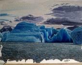 Blu Patagonico - Oil on canvas board