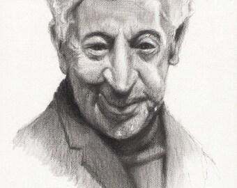 Original Portrait Painting ARTUR RUBINSTEIN Pianist MUSICIAN Art