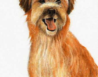 Original DOG Oil Portrait Painting PYRENEAN SHEEPDOG Artwork from Artist
