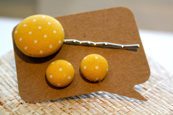 Earring and Hair Pin Set
