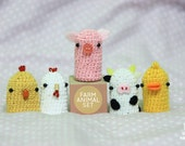 Finger Puppet Farm animal set