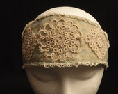 Tatted Lace Flapper Headband