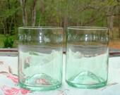 Clear Wine Bottle Tumblers Repurposed by Garden Daisies Studio