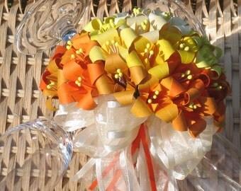 Sunrise Wedding Bouquet - Origami Flower Arrangement