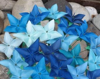 Blue Lagoon Bouquet - Origami Floral Arrangement