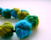 Reserved Listing for YG - Statement Necklace with Wire-Wrapped Felted Beads