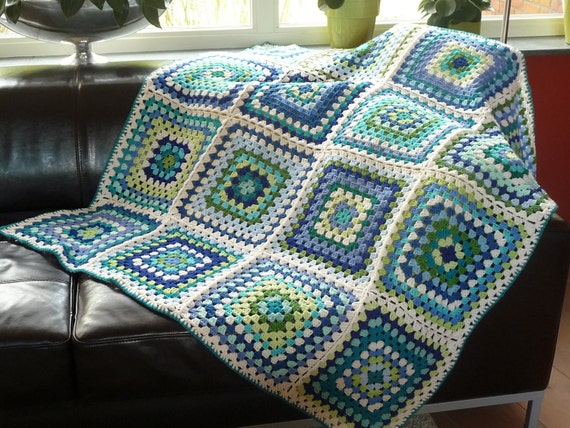 Crochet granny square 'SKY' by ATERGcrochet