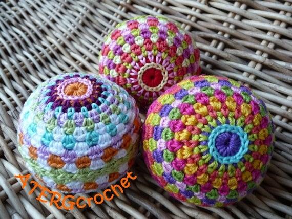 Crochet pattern rainbow ball by ATERGcrochet