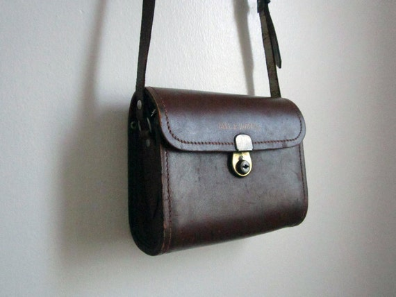 Vintage Bell and Howell Camera Case, Brown Leather Purse