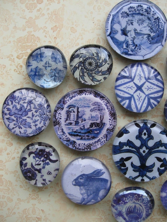 Blue And White China Vintage Blue And White Pattern Glass