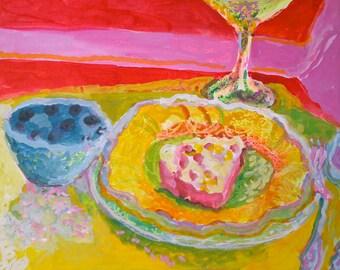 Cherry Pie and Chris's Bowl.  Food Schmooze series