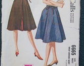 McCall's 6665 Vintage Sewing Pattern 1962 - Size 10-12