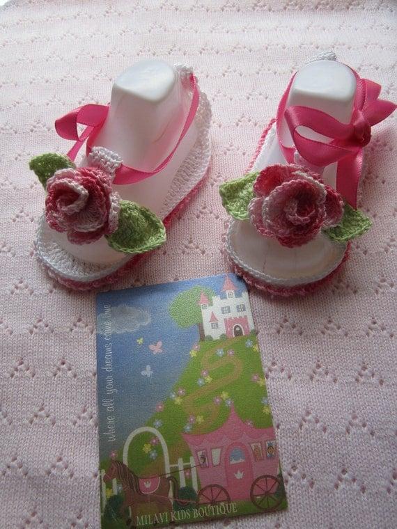 Crochet Baby sandals, Crochet baby girl booties, Crochet summer girl booties, Newborn baby girl summer shoes, baby summer sandals. SALE