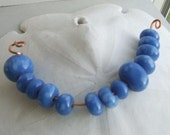 Clouds Lampworked Glass Bead Set (13)